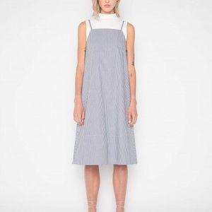 NWOT OAK+FORT | maxi striped dress, S